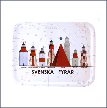 Bricka Svenska Fyrar - mellan