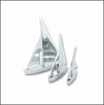 Segelbåtar aluminium, 3 set