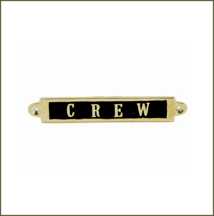 Mässingsskylt - Crew