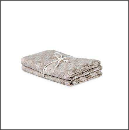 Handduk Schack natur-vit