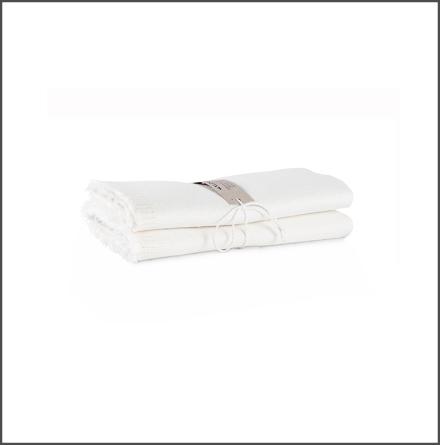 Handduk Säckväv benvit