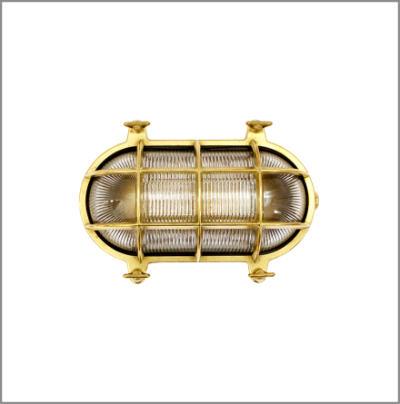 Gallerlampa oval medium mässing