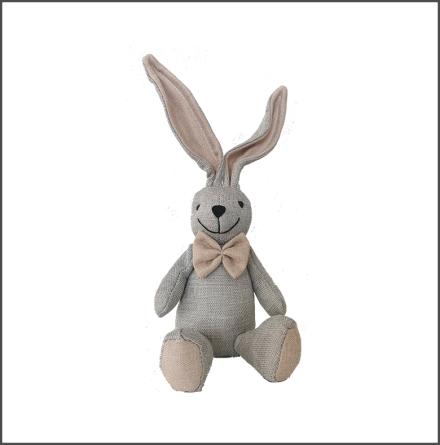 Kanin sittande liten grå